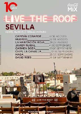 Cartel del ciclo Live the Roof en Sevilla 2020