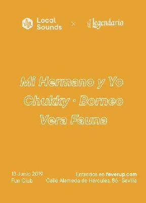 Cartel del concierto Local Sounds x Ron Legendario en FunClub Sevilla (junio 2019)