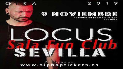Cartel del concierto de Locus en FunClub Sevilla 2019