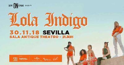 Concierto: Lola Indigo en Antique Sevilla 2018