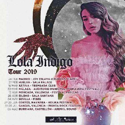 Cartel de la gira 2019 de Lola Indigo