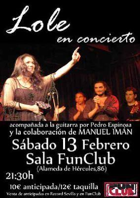 Concierto: Lole Montoya en FunClub Sevilla