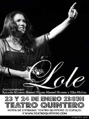 Concierto: Lole en el Teatro Quintero de Sevilla