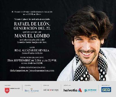 Concierto benéfico de Manuel Lombo en el Alcázar de Sevilla