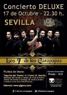 Concierto: Los 7 de los Carapapas en el Quintero de Sevilla (octubre 2015)
