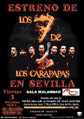Concierto: los 7 de los Carapapas (comparsa) en Malandar Sevilla