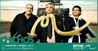 Cartel del concierto de Los Chichos en Malandar Sevilla 2019