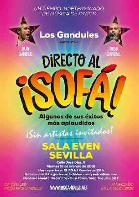 Cartel del concierto de Los Gandules en la Sala Even Sevilla 2019