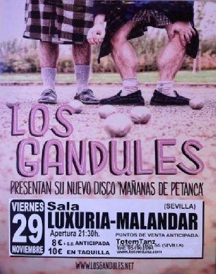 Concierto: Los Gandules en Malandar Sevilla