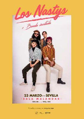 Cartel del concierto Los Nastys en Malandar Sevilla 2019