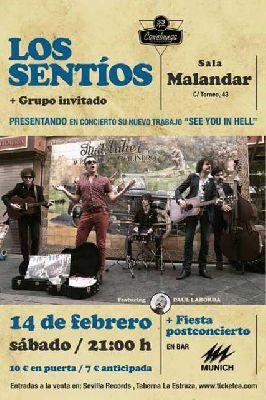 Concierto: Los Sentíos en la sala Malandar de Sevilla