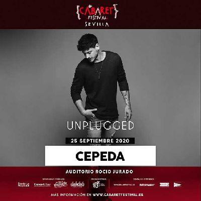 Cartel del concierto de la gira Unplugged de Luis Cepeda en Sevilla 2020
