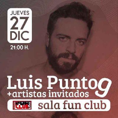 Cartel del concierto de LuispuntoG en FunClub Sevilla 2018