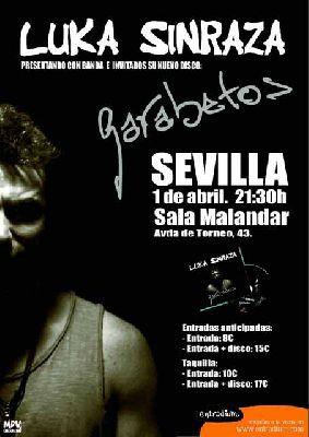 Concierto: Luka Sinraza en Malandar Sevilla (abril 2016)