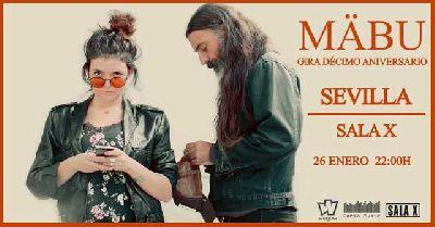 Cartel del concierto de Mäbu en la Sala X de Sevilla