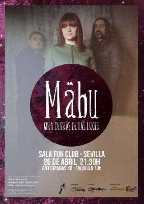 Concierto: Mäbu presenta Detrás de las luces en Sevilla (FunClub)