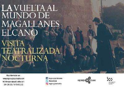 Cartel de la visita teatralizada La primera vuelta al mundo en Sevilla