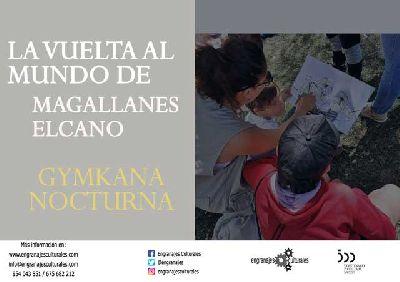 Cartel de la gymkhana La vuelta al mundo de Magallanes-Elcano en Sevilla