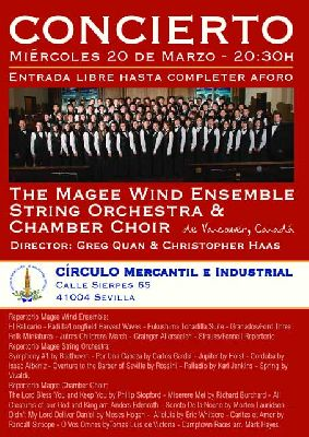 Concierto: Magee Wind Ensemble String Orchestra & Chamber Choir