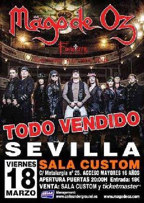 Concierto: Mägo de Oz en Custom Sevilla 2016