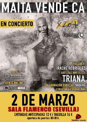 Concierto: Maita Vende Ca en la Sala Flamenco Sevilla 2018