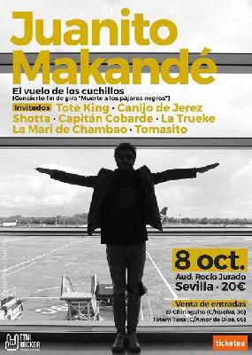 Concierto: Juanito Makandé, El vuelo de los cuchillos en Sevilla