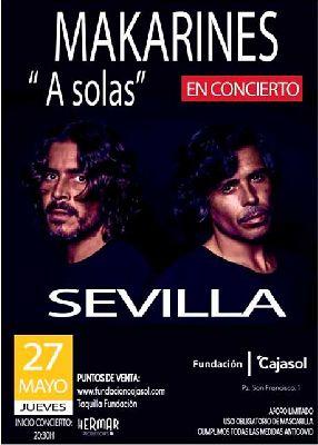 Cartel del concierto de Makarines en Cajasol Sevilla 2021