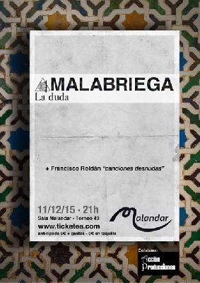 Concierto: Malabriega en Malandar Sevilla 2015