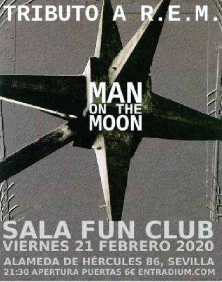 Cartel del concierto del grupo Man on the Moon en FunClub Sevilla 2020