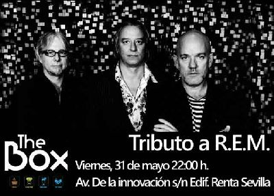 Cartel del concierto de Man on the moon en Sala The Box Sevilla (mayo 2019)