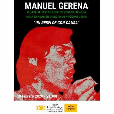 Cartel de Manuel Gerena - Un rebelde con causa