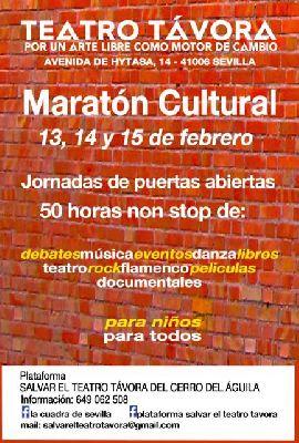 Maratón cultural en el Teatro Salvador Távora de Sevilla