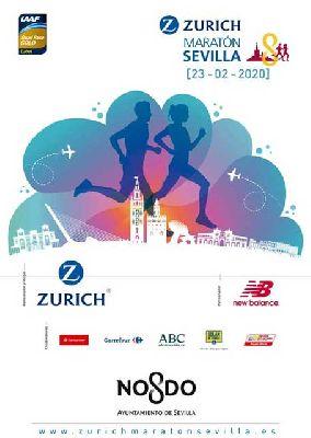 Cartel de la XXXVI edición del Maratón Ciudad de Sevilla