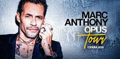 Cartel de la gira Opus Tour España 2020 de Marc Anthony
