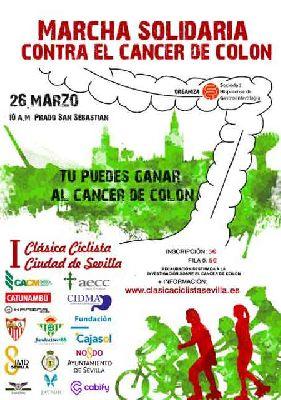 Marcha solidaria contra el cáncer de colon en Sevilla
