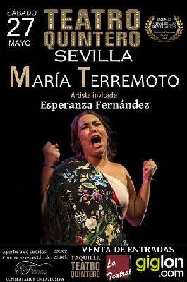 Flamenco: María Terremoto en el Teatro Quintero de Sevilla