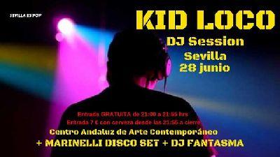 Cartel del concierto de Marinelli Disco Set y Kid Loco en Pop CAAC Sevilla 2019