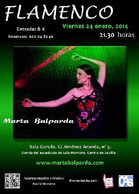 Flamenco: vuelve Marta Balparda a la sala Garufa de Sevilla
