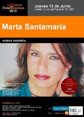 Concierto: Marta Santamaría en la sala Joaquín Turina de Sevilla