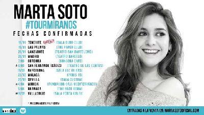 Cartel de la gira Tour Míranos 2019 de Marta Soto