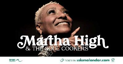 Cartel del concierto de Martha High & The Soul Cookers en Malandar Sevilla