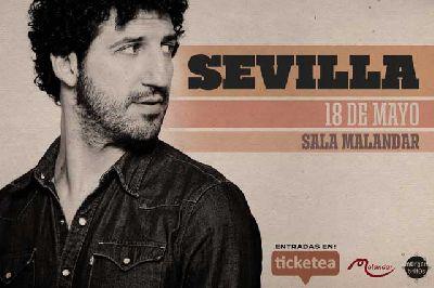 Cartel del concierto de Marwan en Malandar Sevilla 2019