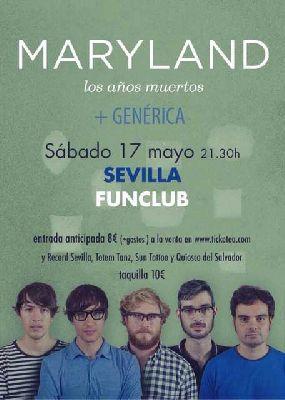 Concierto: Maryland y Genérica en FunClub Sevilla