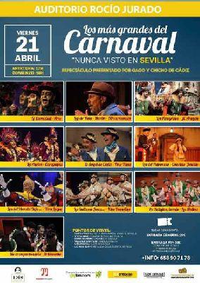 Los más grandes del Carnaval en el Auditorio Rocío Jurado de Sevilla 2017