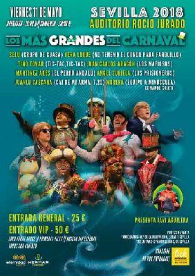Los más grandes del Carnaval en el Auditorio Rocío Jurado de Sevilla 2018