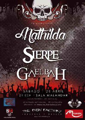 Concierto: Mathilda, Sierpe y Docka Pussel en Malandar Sevilla