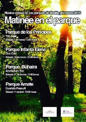 Conciertos: ciclo Matinée en el parque (primavera 2015) en Sevilla