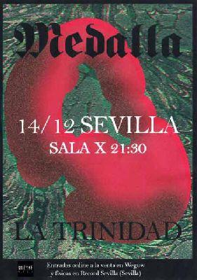 Cartel del concierto de Medalla y La Trinidad en la Sala X de Sevilla 2019