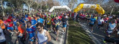 Foto de la salida del Medio Maratón de Sevilla 2016