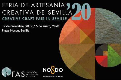Cartel de la XX Mercado Navideño de Artesanía de Sevilla 2019 - 2020